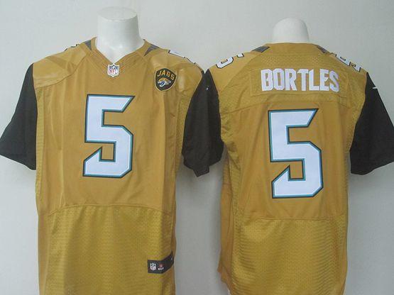 Mens   Nfl Jacksonville Jaguars #5 Blake Bortles Gold Elite Jersey