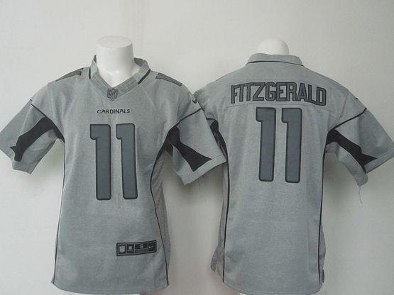 Mens   Nfl Arizona Cardinals #11 Larry Fitzgerald Gray Gridiron Limited Jersey