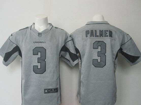 Mens   Nfl Arizona Cardinals #3 Carson Palmer Gray Gridiron Limited Jersey
