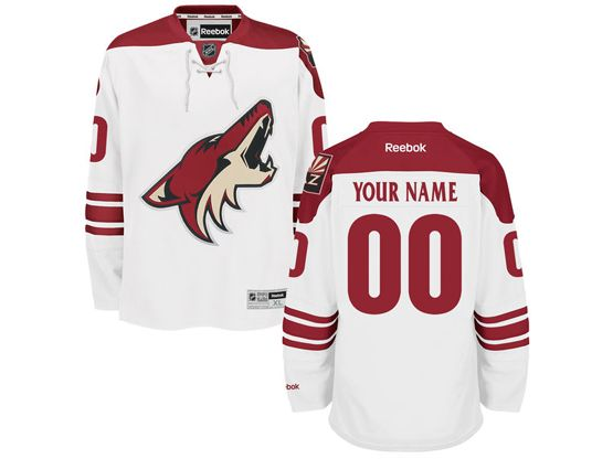Mens Women Youth Reebok Arizona Coyotes White Away Premier Jersey
