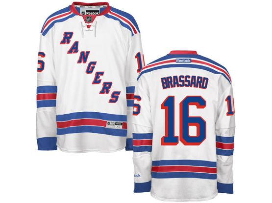 Mens Reebok Nhl New York Rangers #16 Brassard White Jersey