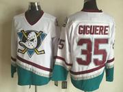 Mens Nhl Anaheim Mighty Ducks #35 Giguere White Throwbacks Jersey