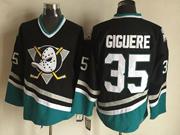 Mens Ccm Nhl Anaheim Mighty Ducks #35 Giguere Black Vintage Jersey