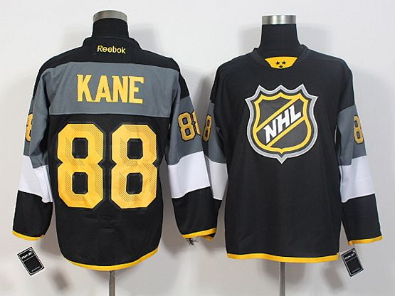 Mens Reebok Nhl Chicago Blackhawks #88 Kane Black 2016 All Star Jersey
