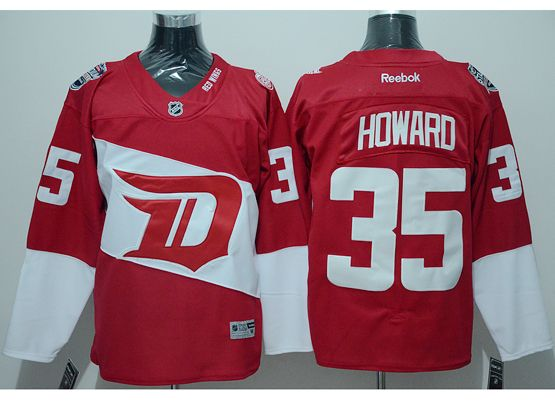 Mens Reebok Nhl Detroit Red Wings #35 Howard Red (2016 Stadium Series) Jersey