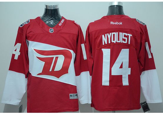 Mens Reebok Nhl Detroit Red Wings #14 Nyquist Red (2016 Stadium Series) Jersey