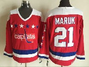 Mens Ccm Nhl Washington Capitals #21 Maruk Red Jersey