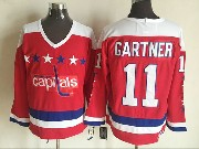 Mens Ccm Nhl Washington Capitals #11 Gartner Red Jersey