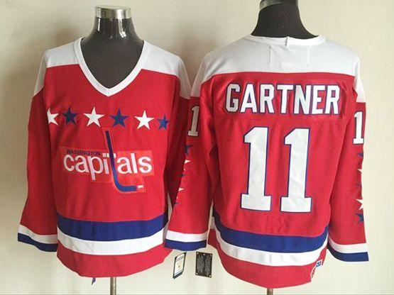 Mens Ccm Nhl Washington Capitals #11 Gartner Red Jersey