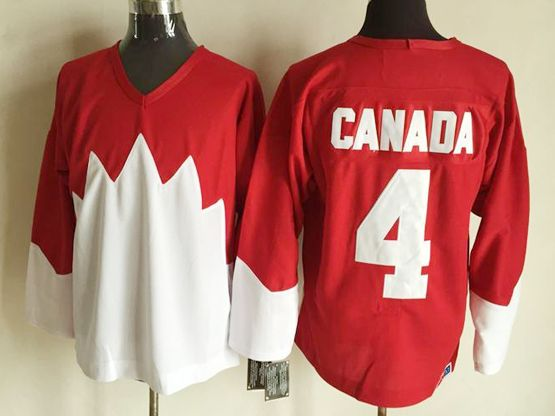 Mens nhl team canada #4 (blank) white 1972 vintage throwbacks Jersey
