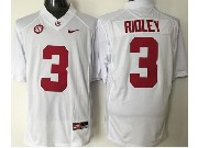 Mens Ncaa Nfl Alabama Crimson #3 Ridley White Sec Limited Jersey