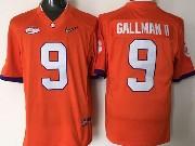 Mens Ncaa Nfl Clemson Tigers #9 Gallman Ii Orange Jersey
