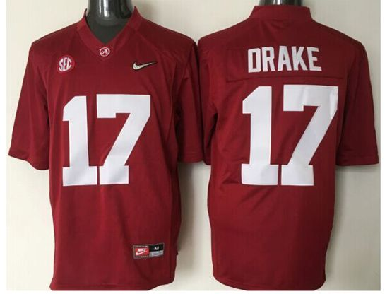 Mens Ncaa Nfl Alabama Crimson #17 Drake Red Sec Limited Jersey