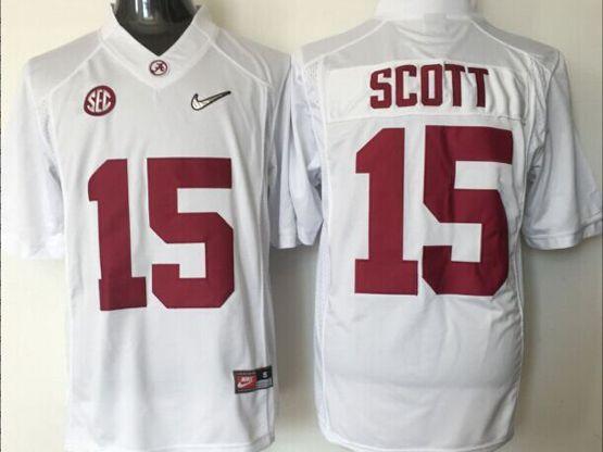 Mens Ncaa Nfl Alabama Crimson #15 Scott White Sec Limited Jersey