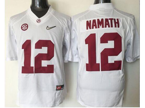 Mens Ncaa Nfl Alabama Crimson #12 Namath White Sec Limited Jersey
