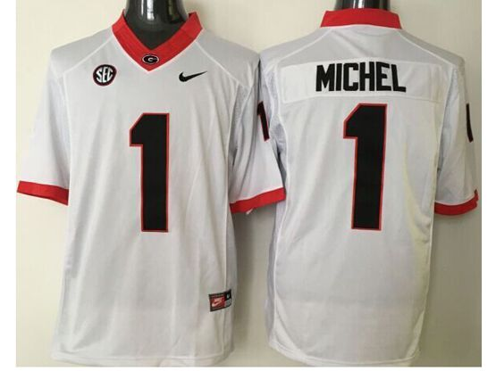 Mens Ncaa Nfl Georgia Bulldogs #1 Michel White Sec Limited Jersey