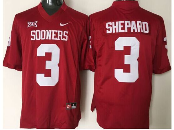 Mens Ncaa Nfl Oklahoma Sooners #3 Shepard Red Jersey