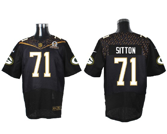 Mens Nfl Green Bay Packers #71 Sitton Black (2016 Pro Bowl) Elite Jersey
