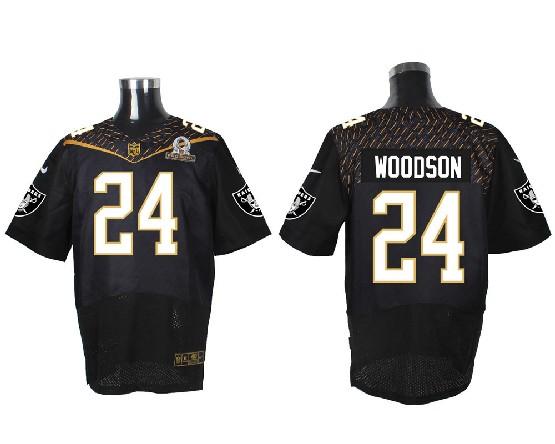 Mens Nfl Oakland Raiders #24 Woodson Black (2016 Pro Bowl) Elite Jersey