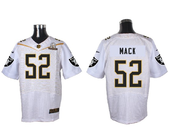Mens Nfl Oakland Raiders #52 Mack White (2016 Pro Bowl) Elite Jersey