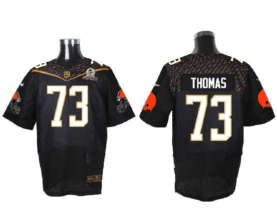 Mens Nfl Cleveland Browns #73 Thomas Black (2016 Pro Bowl) Elite Jersey