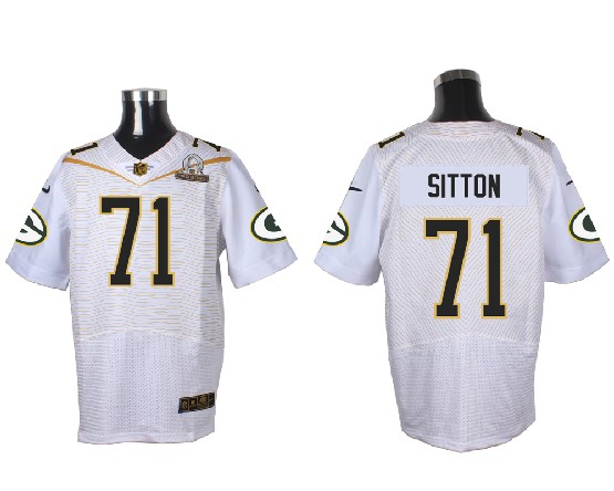Mens Nfl Green Bay Packers #71 Sitton White (2016 Pro Bowl) Elite Jersey