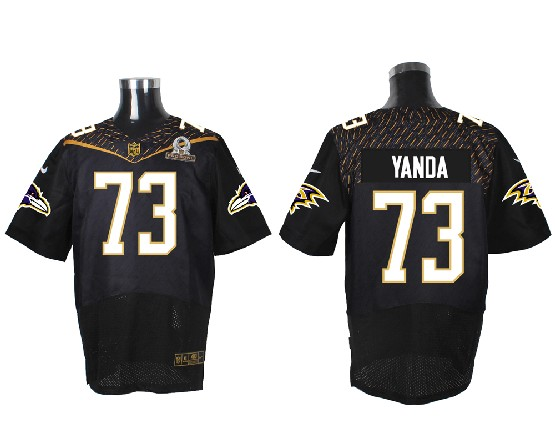 Mens Nfl Baltimore Ravens #73 Yanda Black (2016 Pro Bowl) Elite Jersey