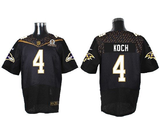 Mens Nfl Baltimore Ravens #4 Koch Black (2016 Pro Bowl) Elite Jersey
