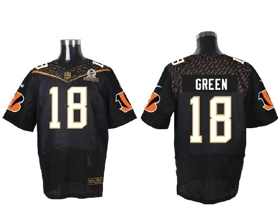 mens nfl Cincinnati Bengals #18 AJ Green black (2016 pro bowl) elite jersey