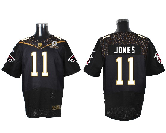 Mens Nfl Atlanta Falcons #11 Jones Black (2016 Pro Bowl) Elite Jersey