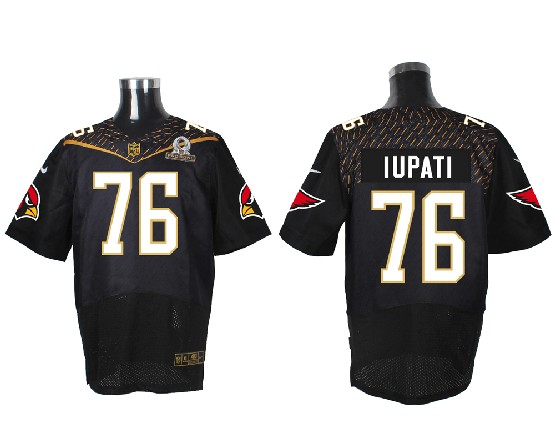 Mens Nfl Arizona Cardinals #76 Iupati Black (2016 Pro Bowl) Elite Jersey