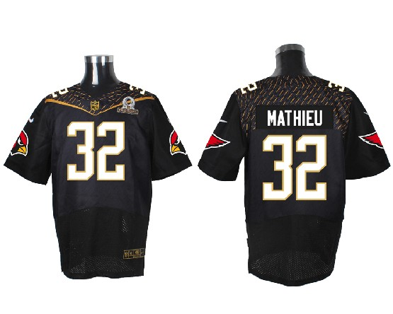 Mens Nfl Arizona Cardinals #32 Tyrann Mathieu Black (2016 Pro Bowl) Elite Jersey