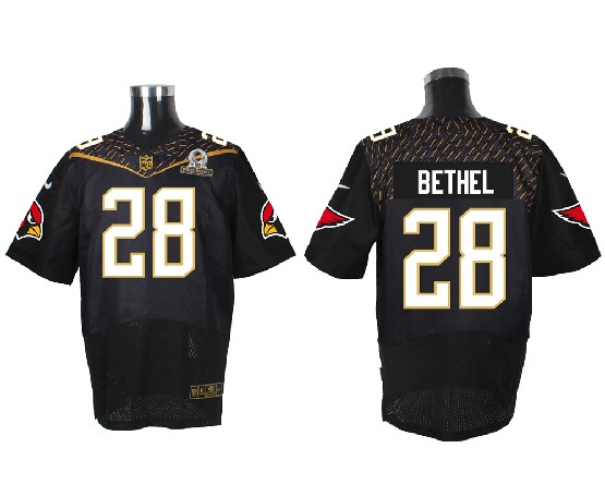 Mens Nfl Arizona Cardinals #28 Bethel Black (2016 Pro Bowl) Elite Jersey