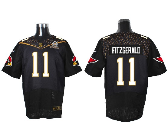 Mens Nfl Arizona Cardinals #11 Larry Fitzgerald Black (2016 Pro Bowl) Elite Jersey