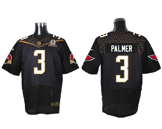 Mens Nfl Arizona Cardinals #3 Palmer Black (2016 Pro Bowl) Elite Jersey