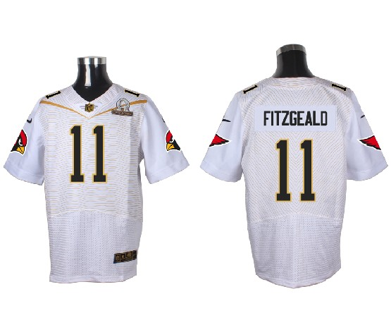 Mens Nfl Arizona Cardinals #11 Larry Fitzgerald White (2016 Pro Bowl) Elite Jersey