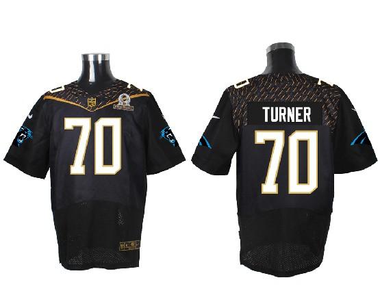 Mens Nfl Carolina Panthers #70 Turner Black (2016 Pro Bowl) Elite Jersey