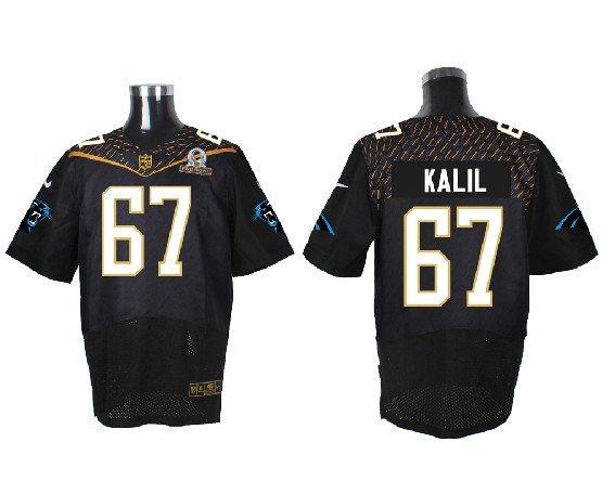 Mens Nfl Carolina Panthers #67 Kalil Black (2016 Pro Bowl) Elite Jersey