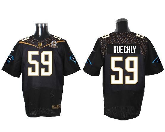 Mens Nfl Carolina Panthers #59 Kuechly Black (2016 Pro Bowl) Elite Jersey