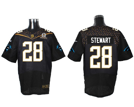 Mens Nfl Carolina Panthers #28 Stewart Black (2016 Pro Bowl) Elite Jersey