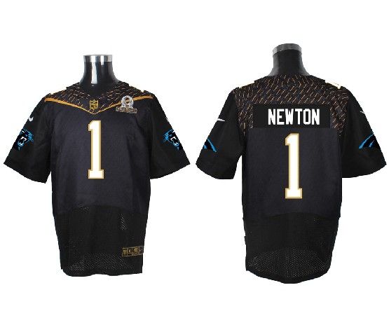 Mens Nfl Carolina Panthers #1 Cam Newton Black (2016 Pro Bowl) Elite Jersey