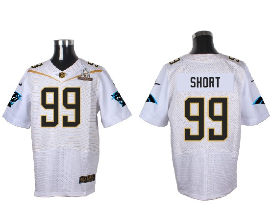 Mens Nfl Carolina Panthers #99 Short White (2016 Pro Bowl) Elite Jersey