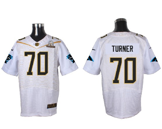 Mens Nfl Carolina Panthers #70 Turner White (2016 Pro Bowl) Elite Jersey