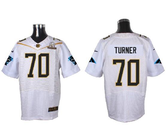 Mens Nfl Carolina Panthers #70 Turner White (2016 Pro Bowl) Elite Jersey