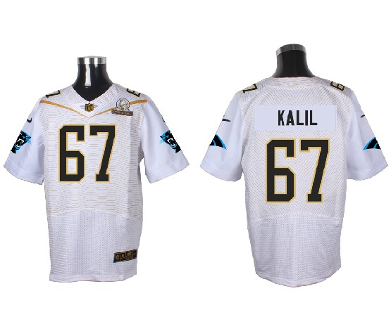 Mens Nfl Carolina Panthers #67 Kalil White (2016 Pro Bowl) Elite Jersey