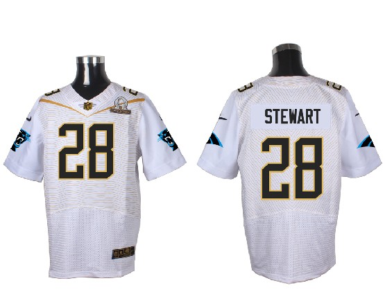 Mens Nfl Carolina Panthers #28 Stewart White (2016 Pro Bowl) Elite Jersey