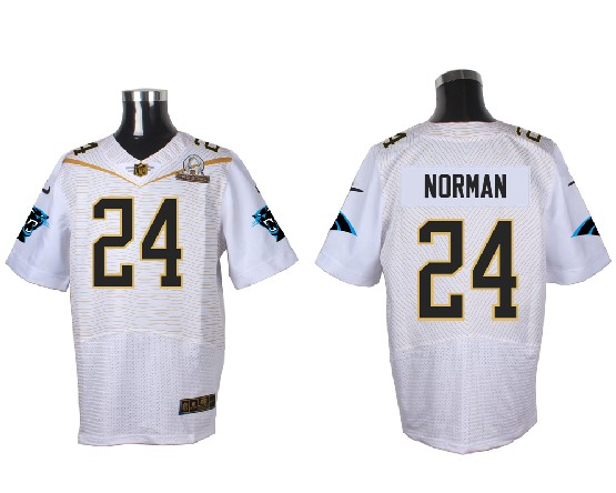 Mens Nfl Carolina Panthers #24 Norman White (2016 Pro Bowl) Elite Jersey