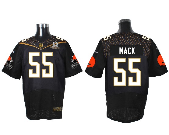Mens Nfl Cleveland Browns #55 Mack Black (2016 Pro Bowl) Elite Jersey