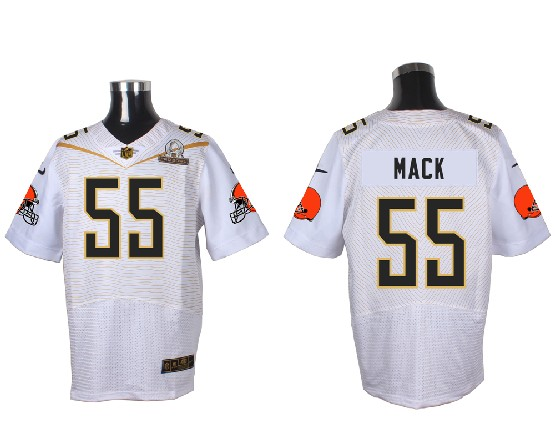 Mens Nfl Cleveland Browns #55 Mack White (2016 Pro Bowl) Elite Jersey