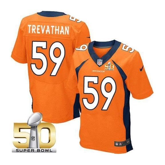 Mens Nfl Denver Broncos #59 Danny Trevathan Orange Super Bowl 50 Bound Elite Jersey